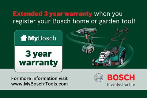 Bosch 3 year extended warranty