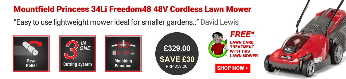 Mountfield Princess 34Li Freedom48 Cordless Lawn Mower